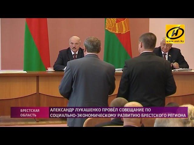 Александр Лукашенко провёл совещание о социально-экономическом развитии в Малорите