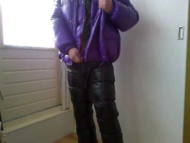 Shiny nylon and puffy jackets at once. 18 layers