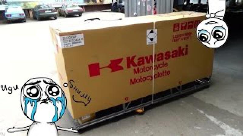 Kawasaki ZZR 1400 и Z1000 ( 2016 ) достаём из Коробки