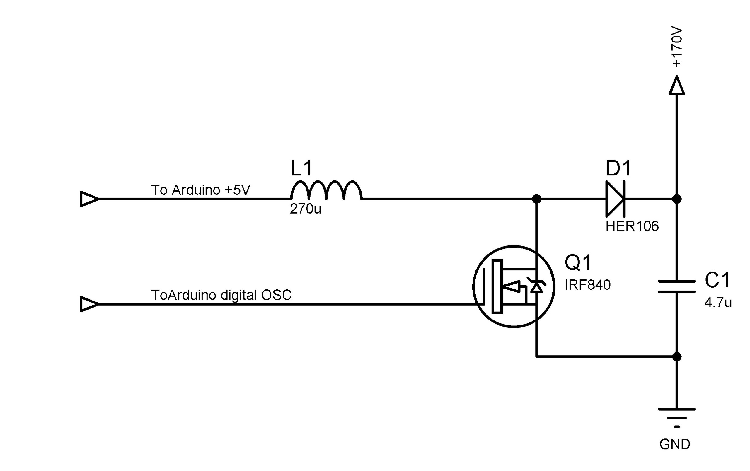 Development Of Enhanced 180v Nixie Tube Driver Using Arduino Clock Circuit Diagrams After That It Is Possible To Make Work As Impulse Generator Directly Vt17 By Replacing Mc34063 With The Becoming Much Easier