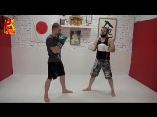 Хайкик контратака на левый прямой. Тайский бокс UFC ЮФС РФ