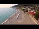 Пляж Дагомыс в Сочи - съемка с высоты птичьего полета