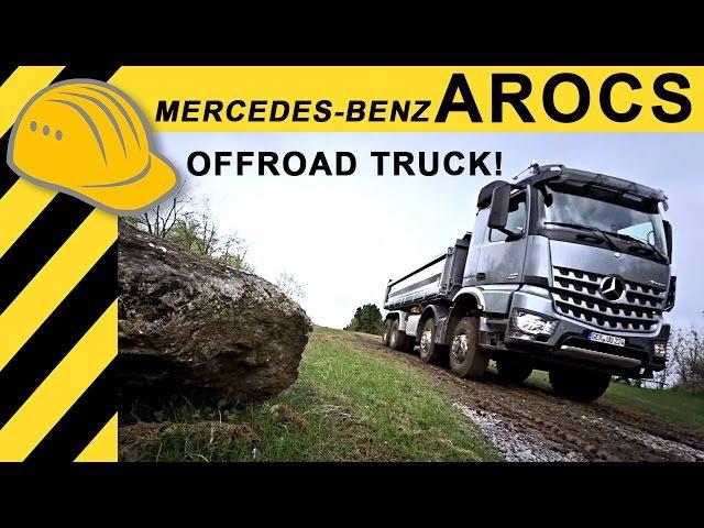 Mercedes-Benz Arocs Kipper 8x8 Offroad LKW Test im Steinbruch Vorstellung im Detail - Bauforum24