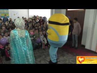 Видео обзор благотворительного концерта к Новому году в Яйсанской школе интерн ...