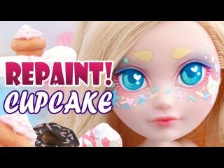 Repaint! Cupcake Sprinkles Custom OOAK Doll Ever After High Apple White