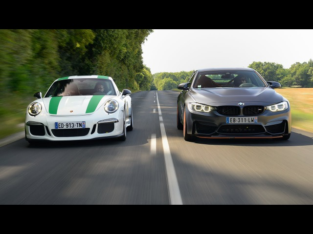 2016 Porsche 911 R vs BMW M4 GTS vs l'invitée mystère Subtitled
