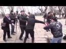 Ukrainian Nazis Beating up Pensioners Protesting Against Poroshenko and Yatsenyuk