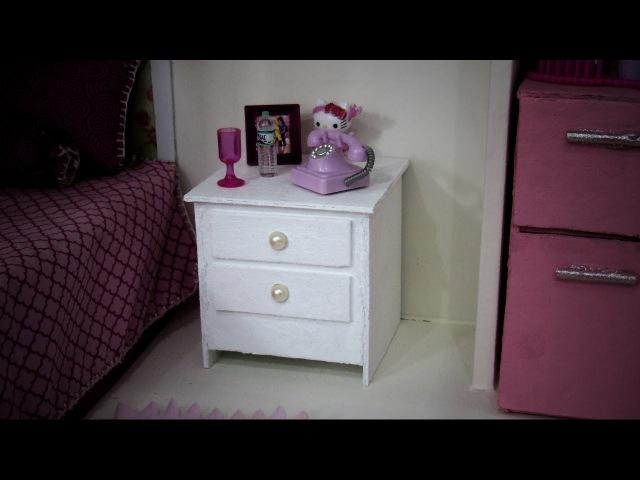 Criado-Mudo para Barbie DIY Super Fácil
