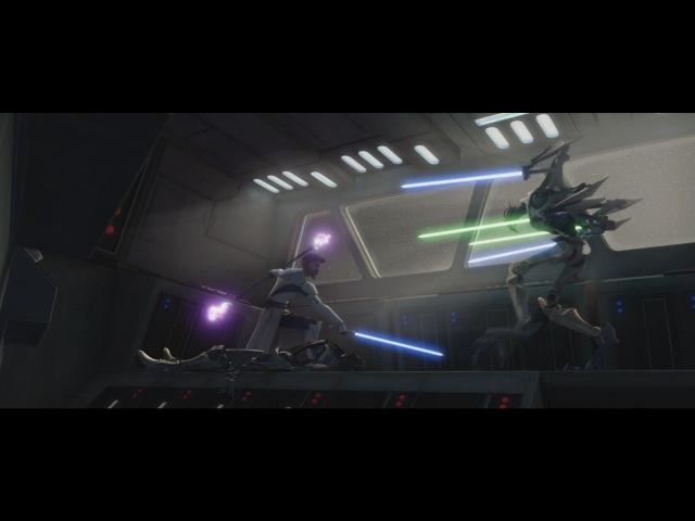 Star Wars The Clone Wars Obi Wan Kenobi vs General Grievous 1080p