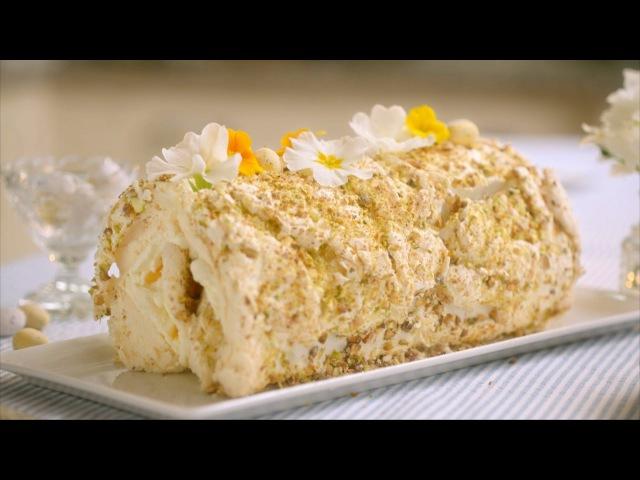 Lemon Pistachio Meringue Roulade recipe - Mary Berry's Easter Feast: Episode 2 - BBC Two