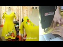 Cách may váy xòe thiên cổ chữ V Phần 3 Thời Trang Thủy Sewing circular dress