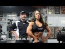"IFBB Figure Pro Келли Лайонс. Тренировка плеч в зале ""Bev Francis Powerhouse Gym"""