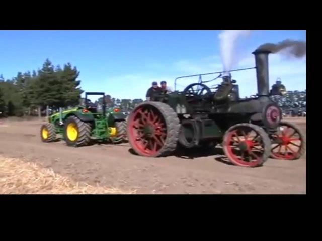 Как немецкий паровой трактор DAMPF PFLUG FABRIK 1890 года легко победил современный форсированный дизельный трактор!
