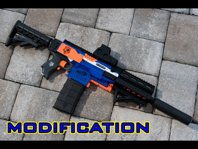 [MOD] Nerf Stryfe M4/M16 - 3D Printed Parts Kit! (Worker/F10555)