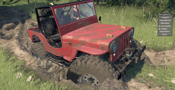 Jeep Willys 1948 для Spintires - Скриншот 3