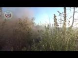 Сирия.02-10-2016.Латакия.Поражение палатки САА из ПТРК боевиками
