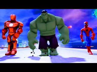 Spiderman & Iron Man PARTY with BIG HULK + Finger Family Song | Kids Video