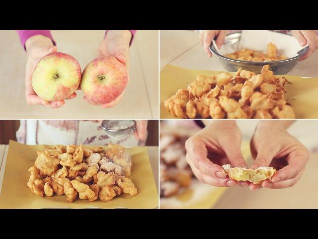 FRITTELLE DI MELE DOLCI Ricetta Facile - Apple fritters Easy Recipe