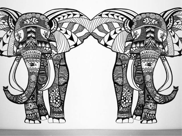 Wall Art Elephant   Speed Painting