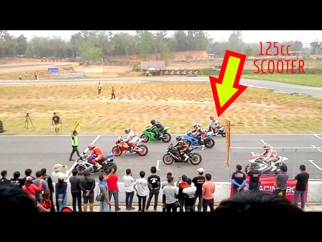 Si Kecil Cabe Rawit Yamaha Mio 125cc Lawan CBR Edisi Road Race