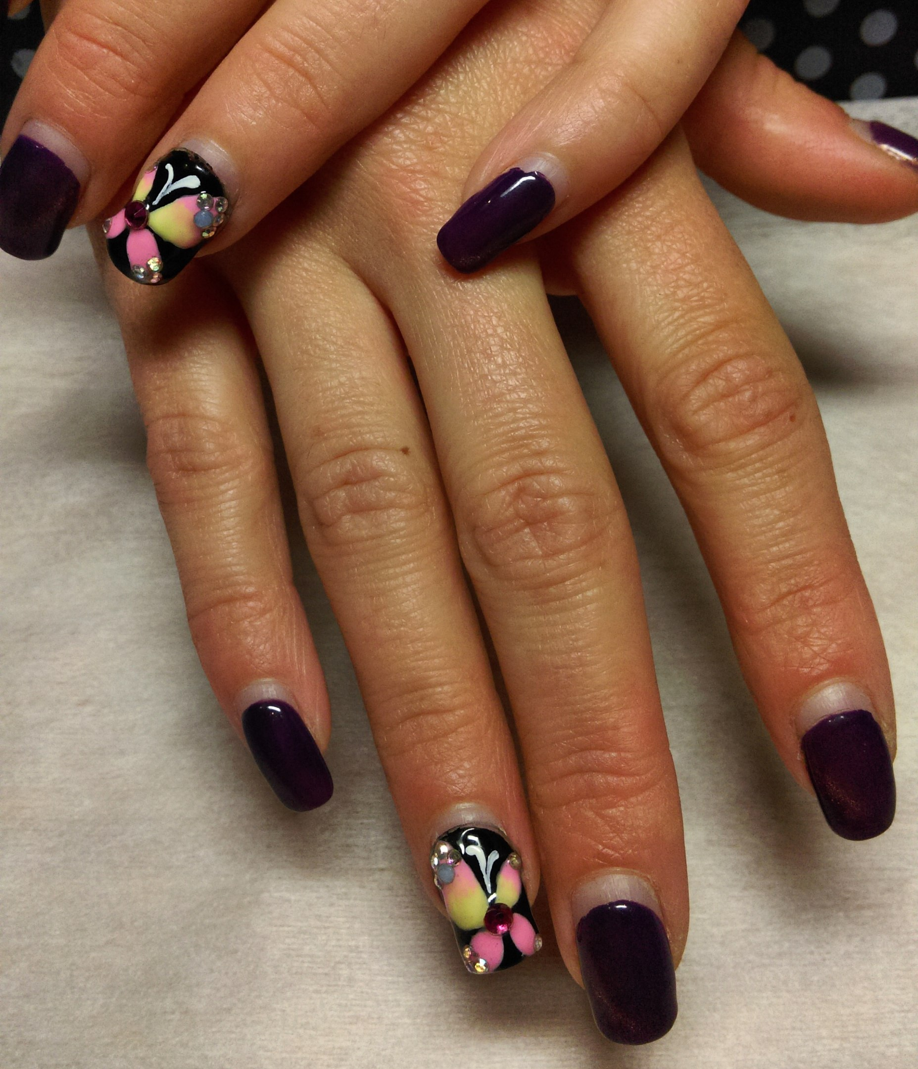 Дизайн ногтей комбинированный фото