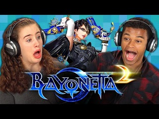 BAYONETTA 2 (Teens React: Gaming)
