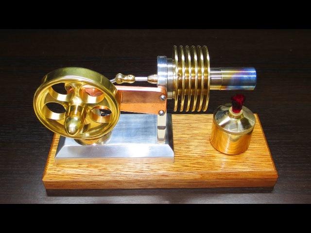 Двигатель Стирлинга - сборка пуск