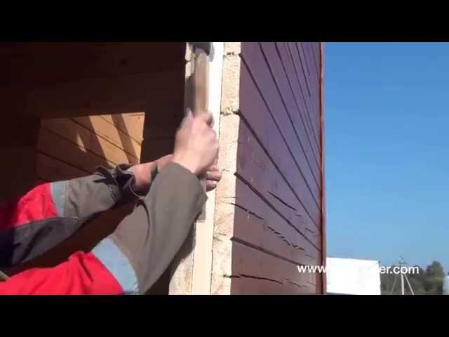 Изготовление проёма обсадной коробки окосячки в деревянном доме