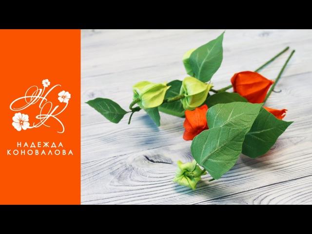 Коновалова Надежда_Осенний физалис из фоамирана - мастер-класс