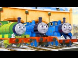TRAINS FOR CHILDREN VIDEO: Preschool Express Train with Excavator & Truck Cartoons for kids