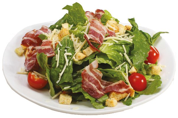 Рецепты салатов с беконом с