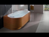 Модные тенденции в ванной комнате - черные, стеклянные и деревянные ванны