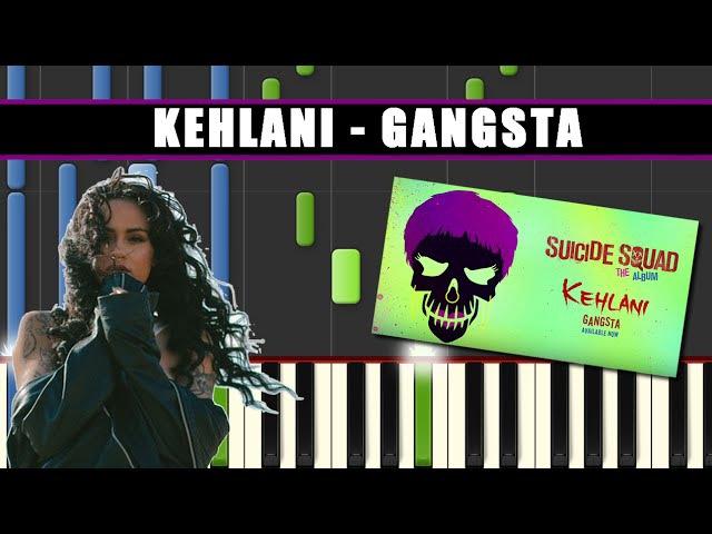 GANGSTA (Kehlani || SUICIDE SQUAD) Piano Tutorial / Cover SYNTHESIA MIDI File