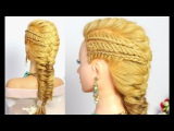 Everyday hairstyles for long hair. French, 4 strand, fishtail braids.