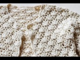 How to Crochet * Offset Shell Stitch for Baby Jacket * Crochet Stitch