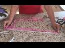 Вяжем прямоугольный коврик из старых вещей