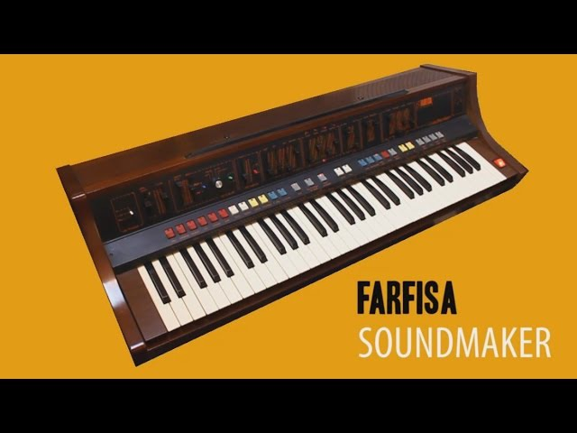 FARFISA SOUNDMAKER Analog Synthesizer 1979   HD DEMO