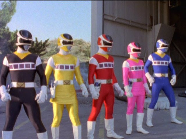 Power Rangers in Space - Power Rangers vs Evil Power Rangers.
