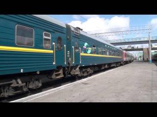 Электровоз ЭП2к-047 с фирменный поездом ЕНИСЕЙ отпр..со Ст.Новосибирск-пасс RZD