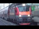ЭП20-035 со скорым двухэтажным поездом №46 Москва - Воронеж