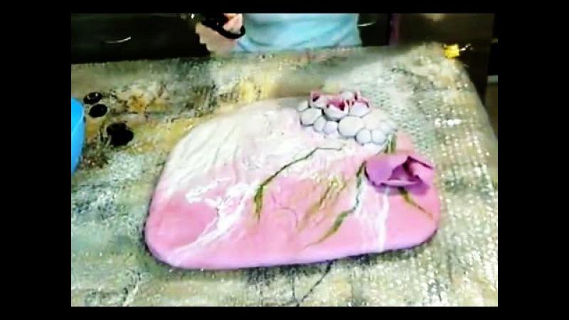Валяние из шерсти ✿ Сумка в технике шибори ✿ МК Ирины Пановой