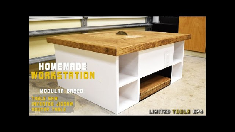 Homemade Table Saw, Jigsaw, Router Workstation Modular | Plans Available