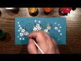 Speed Painting - Invitation Card #6 - Рисуем Гуашью - Пригласительная Открытка #6