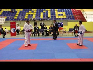 ЧСЗФО #каратэ 2017, -60 Карпов В., финал