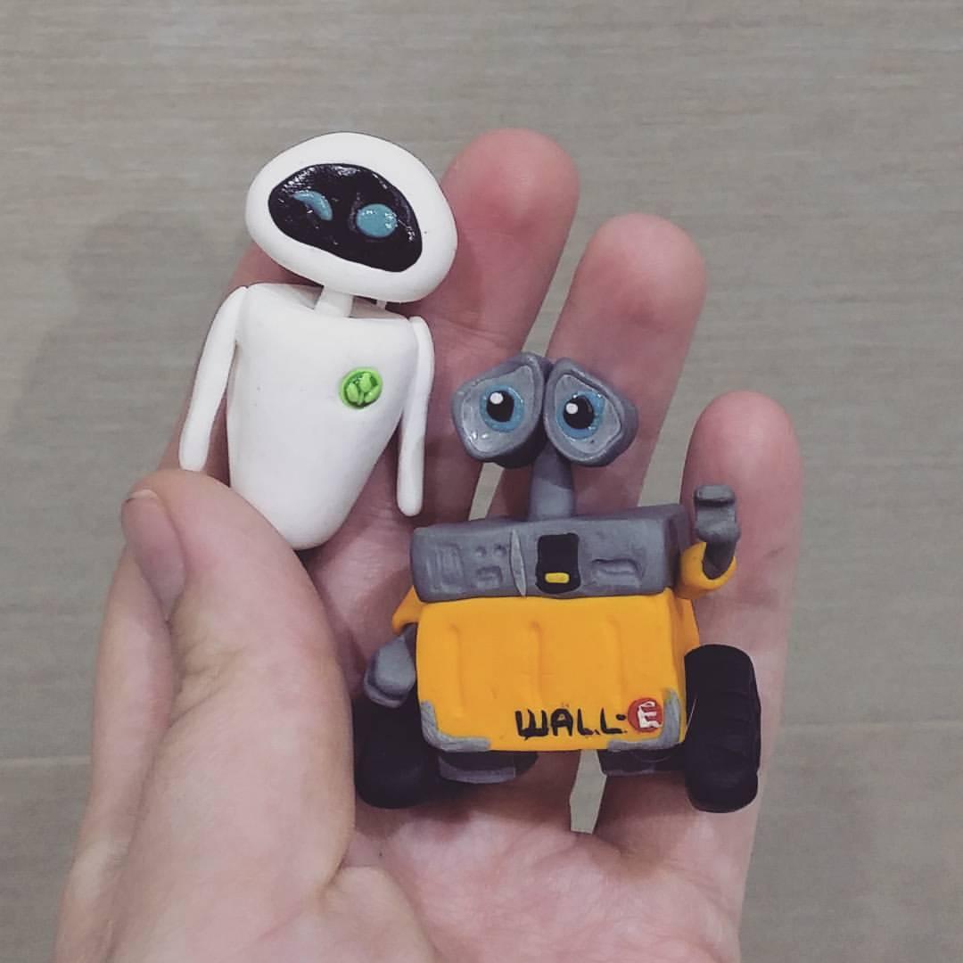 картинки робота из пластилина черном