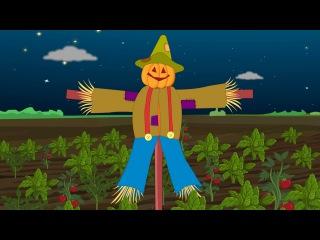 Dingle Dangle Scarecrow Rhyme | Dingle Dangle Scarecrow Nursery Rhyme with lyrics