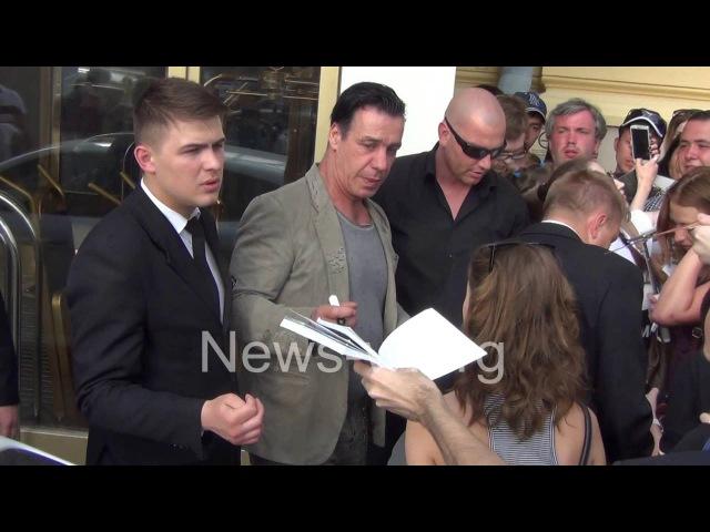 Till Lindemann (Rammstein) fans - next day after show in Moscow 19.06.2016