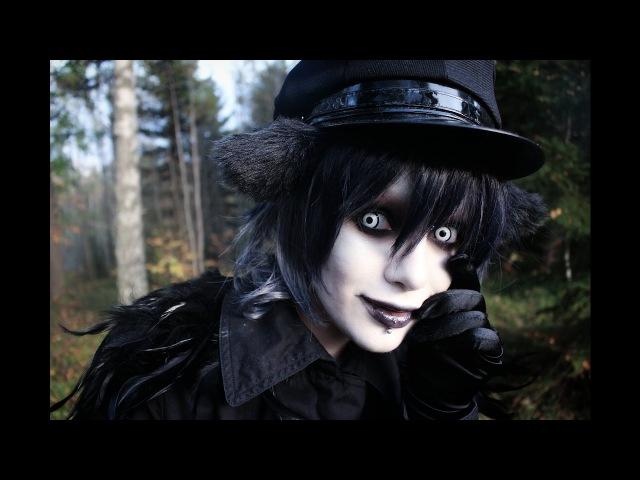 Black and brown smokey eye - Vinter svart inspired goth makeup
