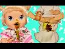 Куклы Пупсик кушает какает Беби Элайв Baby Alive на русском, меняем подгузник. Игрушки для девочек