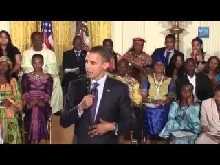 Барак Обама поет песню Boyfriend Джастина Бибера
